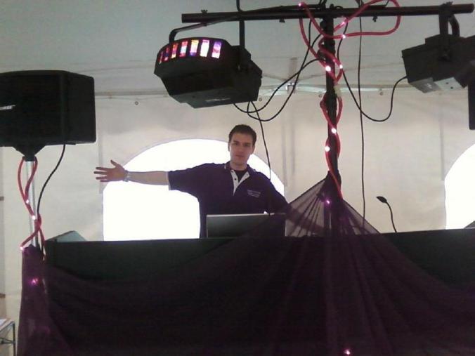 Dartmouth classs of 2000 10th reunion Dance Party DJ Set Up